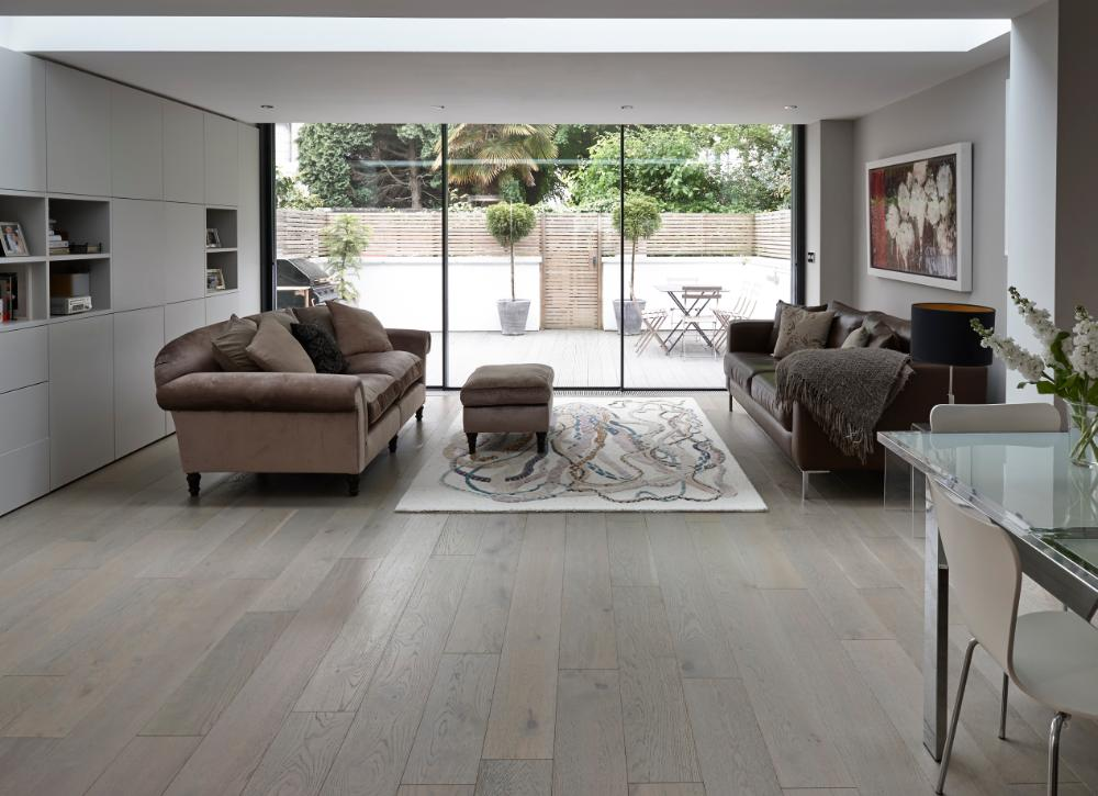 Plank Flooring Oak Silver Grey 100 Solid Wood